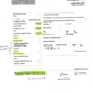 Vehicle Rental Estimate