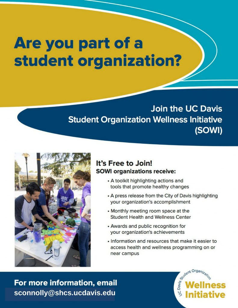 picture of student organization wellness initiative flyer